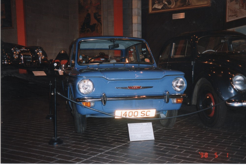 Hillman Imp - This Imp is also reputed to be the first production Imp. See Glasgow Museum of Transport.