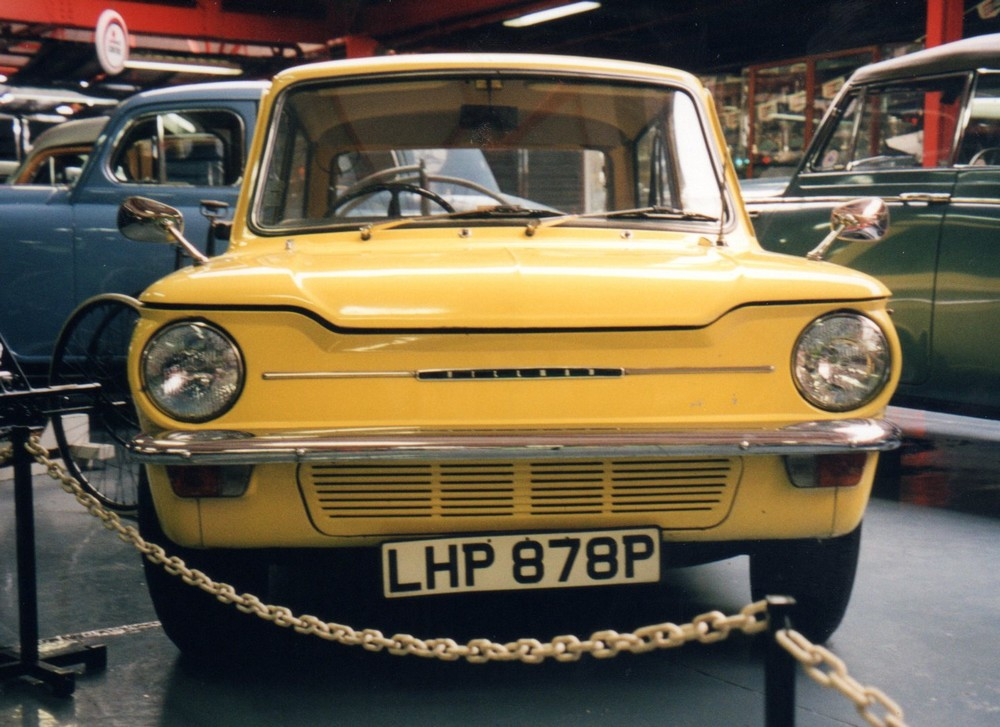 Hillman Imp - in the background is a Singer Hunter (or perhaps it's an SM1500).