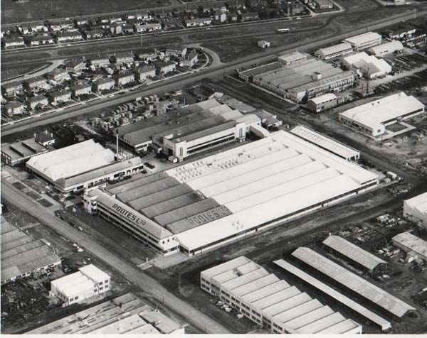 Thanks to Darryl Jenetsky for this second shot of the factory, taken a few years earlier.