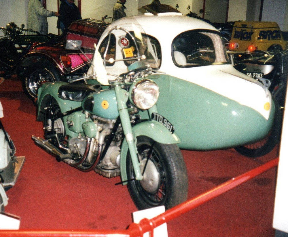 Sunbeam with interesting sidecar outfit